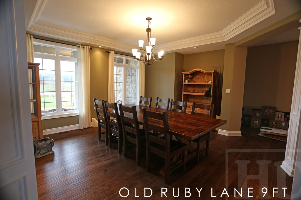 Reclaimed Wood Table With Sawbuck Base In Puslinch Home Blog