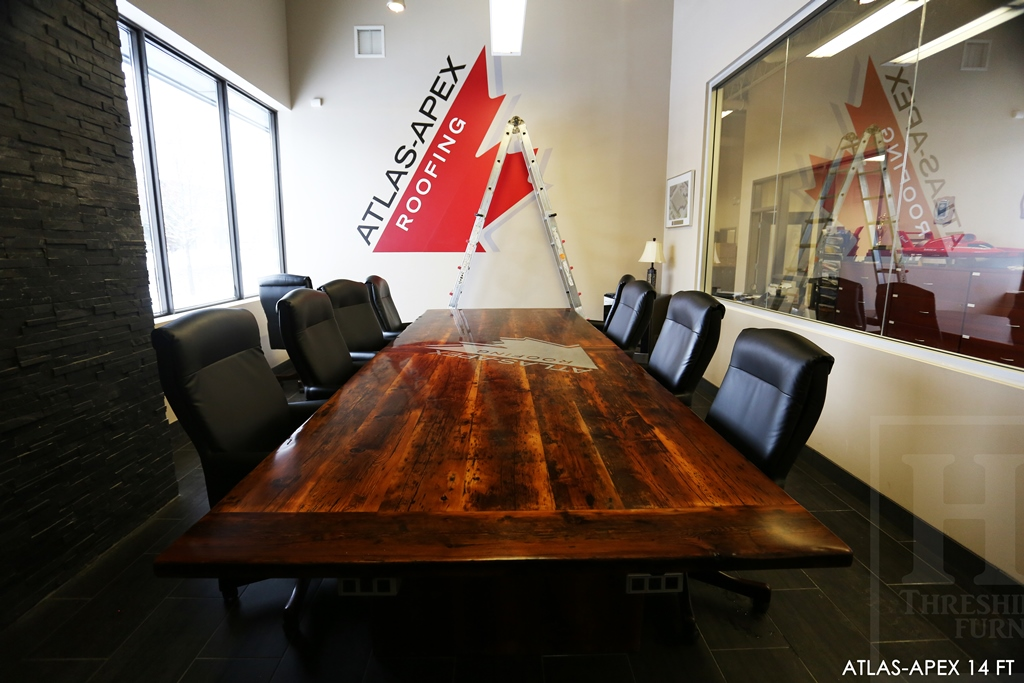 Boardroom Table Conference Tables Ontario Reclaimed Wood Rustic Furniture