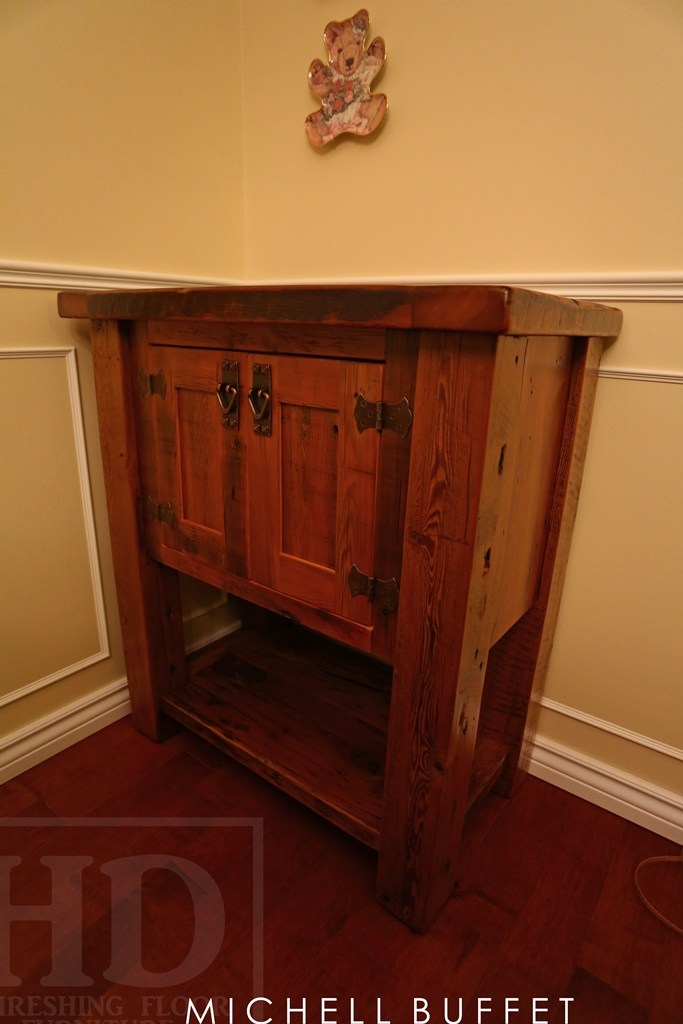 Pleasing Reclaimed Wood Mennonite End Table Cabinet Kitchener Ontario Interior Design Ideas Ghosoteloinfo
