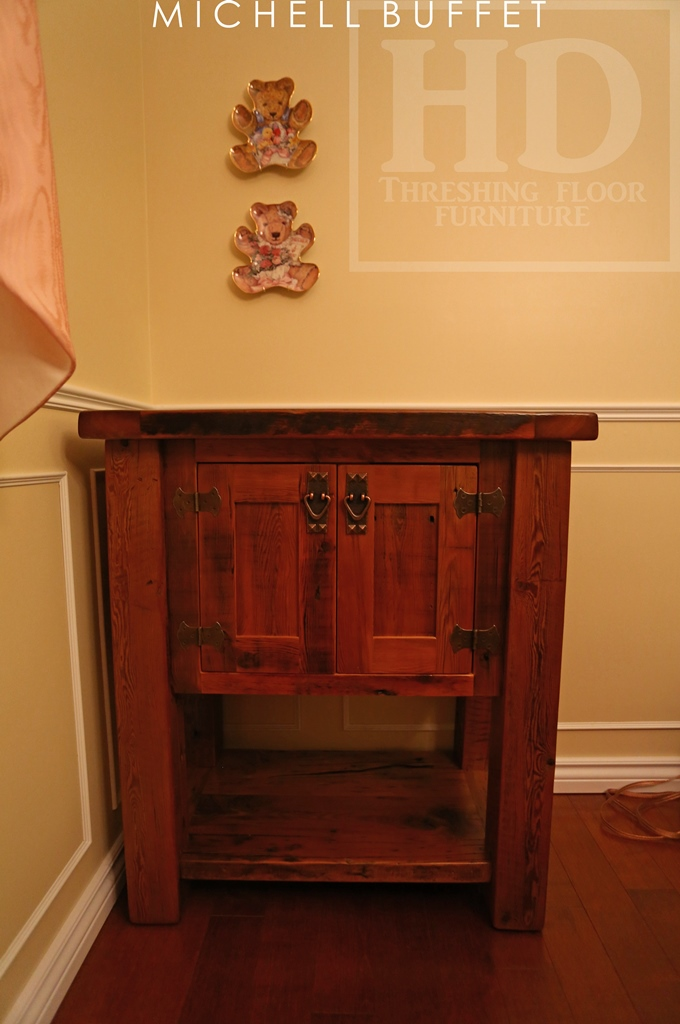 Reclaimed Wood Mennonite End Table Cabinet Kitchener Ontario Epoxy ...