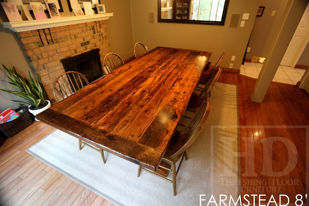 trestle table, reclaimed wood table Ontario, epoxy, resin, mennonite furniture, HD Threshing, HD Threshing Floor Furniture, solid wood furniture, reclaimed wood furniture Ontario