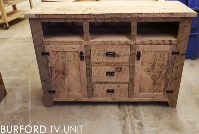 reclaimed wood furniture Ontario, reclaimed wood credenza, mennonite furniture Ontario, solid wood furniture Ontario, epoxy, resin