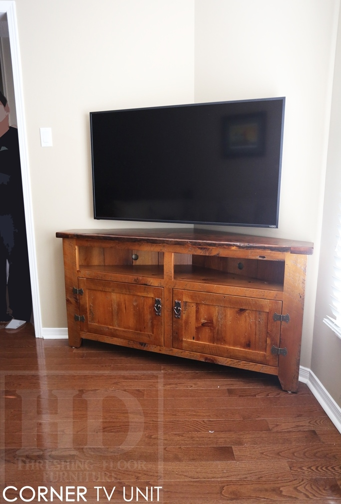 Reclaimed Wood Rustic Tv Cabinet Ontario Mennonite Furniture Epoxy