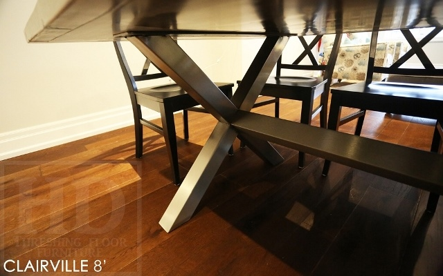 Reclaimed Wood Table With X Shape Metal Base Table For Etobicoke Home Blog