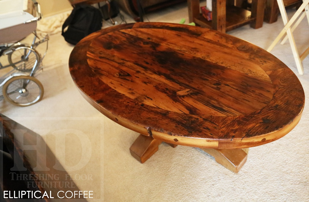 Rustic Farmhouse Reclaimed Wood Coffee Tables Ontario Epoxy Gerald