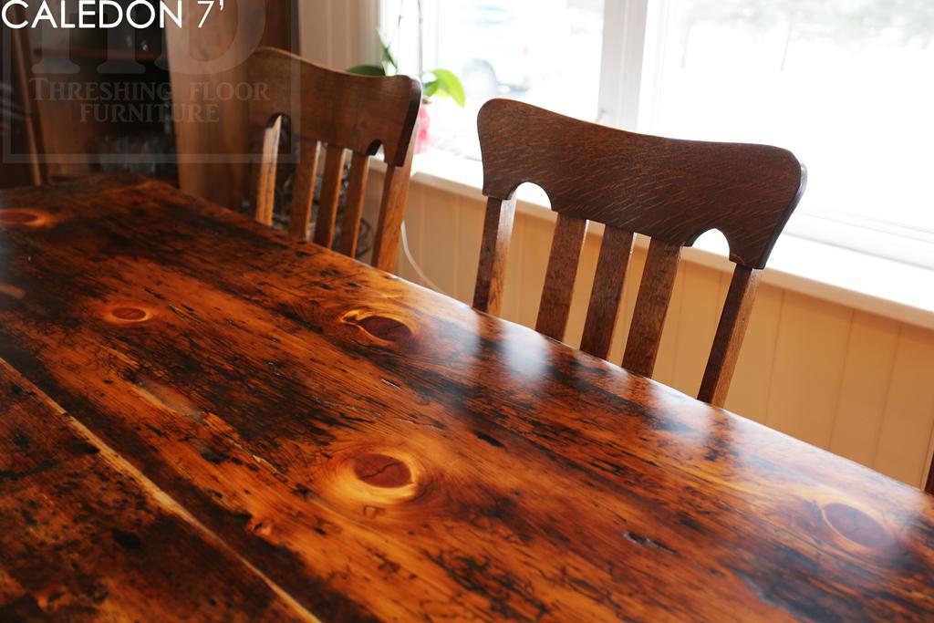 Rustic Furniture Ontario, Reclaimed Wood Tables Ontario, Mennonite Furniture,  Barnwood Table, Sawbuck