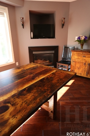reclaimed wood table, Cambridge, Ontario, mennonite furniture Cambridge, rustic table, barnwood table, HD Threshing, HD Threshing Floor Furniture , Gerald Reinink, epoxy, resin, farmhouse table, harvest tables Toronto, solid wood furniture, live edge, recycled wood furniture
