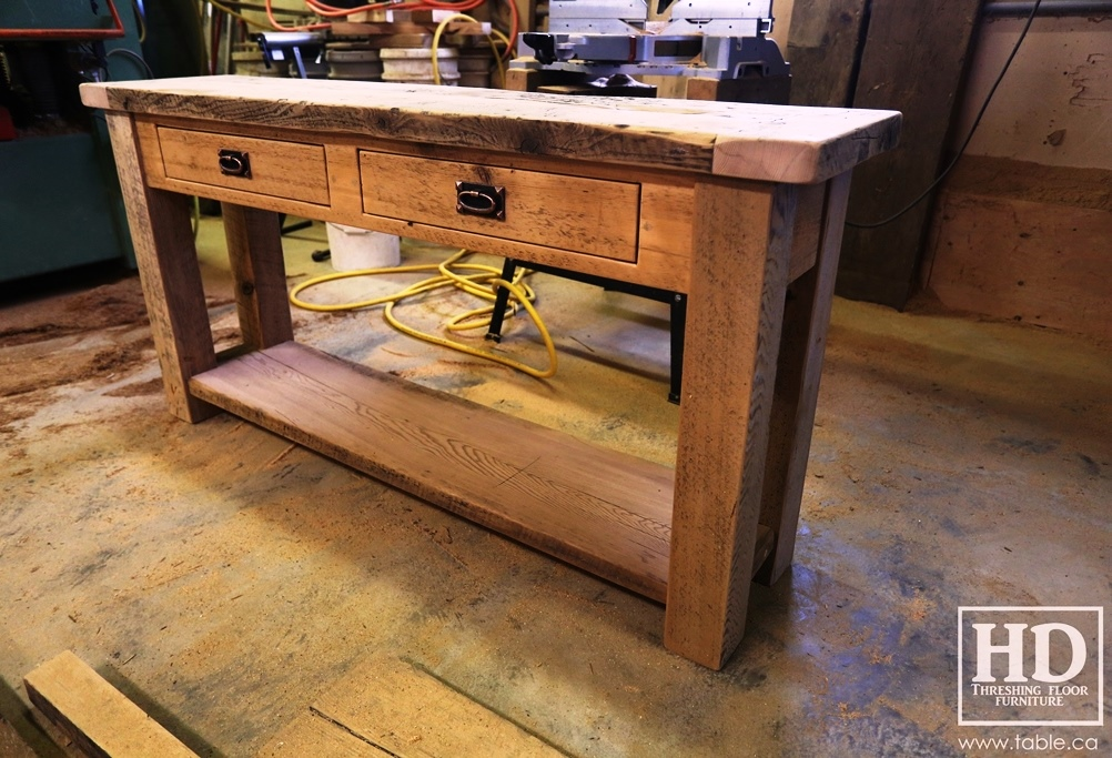 wood reclaimed color order console natural special custom table