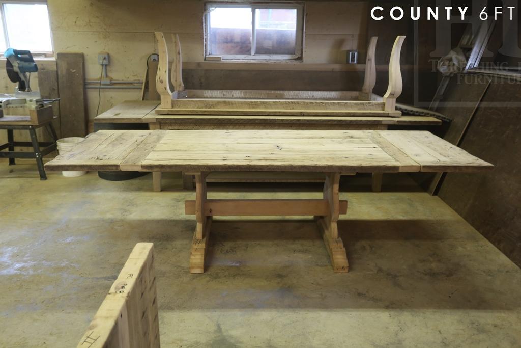 Rustic Reclaimed Wood Trestle Table Kitchener Ontario Mennonite ...