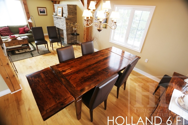 reclaimed wood table Palgrave, harvest tables ontario, rustic furniture ontario, cottage furniture ontario, epoxy, Mennonite Furniture, parsons chairs