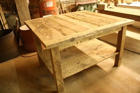 reclaimed wood islands Ontario, Waterdown, custom island, Mennonite Furniture, Gerald Reinink, epoxy finish, threshing floor furniture, farmhouse island, cottage island