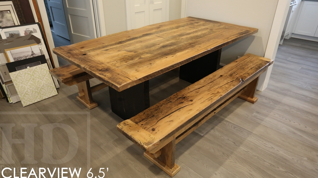 Stupendous Rustic Farmhouse Reclaimed Wood Table Ancaster Ontario Epoxy Squirreltailoven Fun Painted Chair Ideas Images Squirreltailovenorg