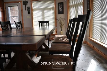 rustic furniture Brantford, reclaimed wood tables Ontario, HD Threshing, Gerald Reinink, epoxy reclaimed, rustic, sawbuck table, distressed wood table