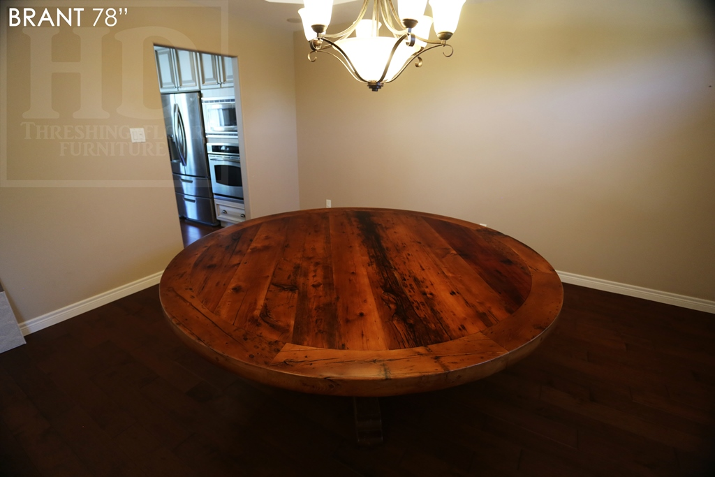 custom round table, reclaimed wood tables Ontario, round tables Ontario, Mennonite Furniture Brantford, reclaimed wood table Brantford, Ontariio, epoxy, recycled wood table, round table, custom round table Ontario
