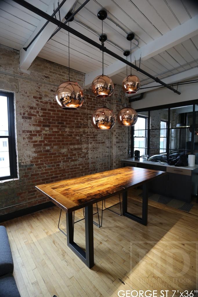 boardroom tables Ontario, reclaimed wood boardroom table, custom boardroom table, reclaimed wood tables Ontario, Mennonite Furniture, epoxy finish, reclaimed wood metal base table, farmhouse table, rustic furniture Canada