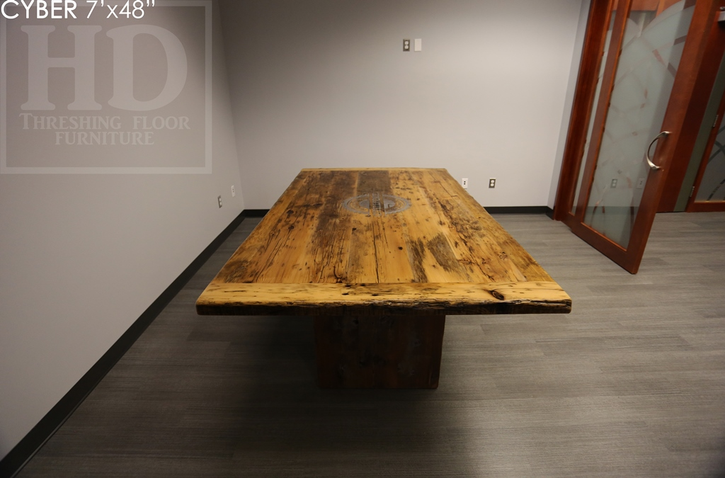 boardroom tables Ontario, reclaimed, office furniture, custom table, unique boardroom tables Ontario, Gerald Reinink, epoxy, recycled wood furniture, solid wood furniture, custom office space