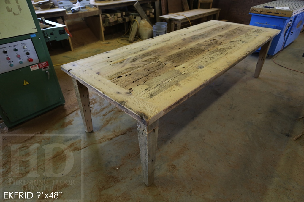 harvest table London Ontario, tables London, reclaimed wood tables Ontario, cottage furniture Ontario, reclaimed wood bench, custom tables Ontario, Gerald Reinink