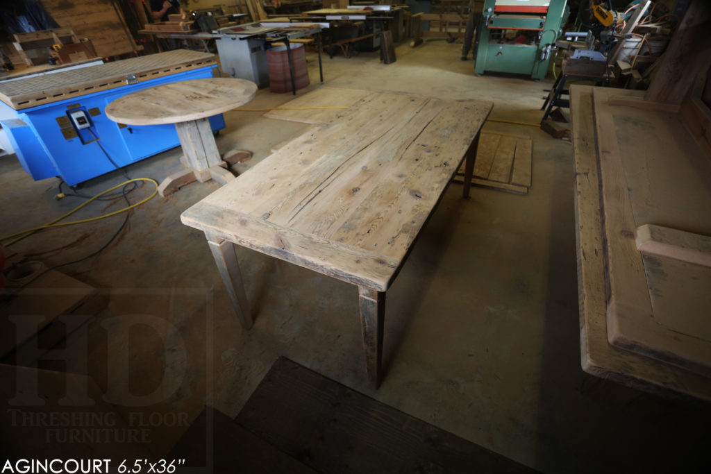 harvest tables toronto, high end tables canada, hemlock, rustic, cottage, hemlock, HD threshing, Gerald Reinink