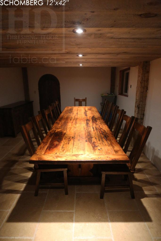 reclaimed wood table, barnwood table, schomberg ontario, hd threshing, custom furniture schomberg, farmhouse table, cottage table, mennonite furniture, gerald reinink