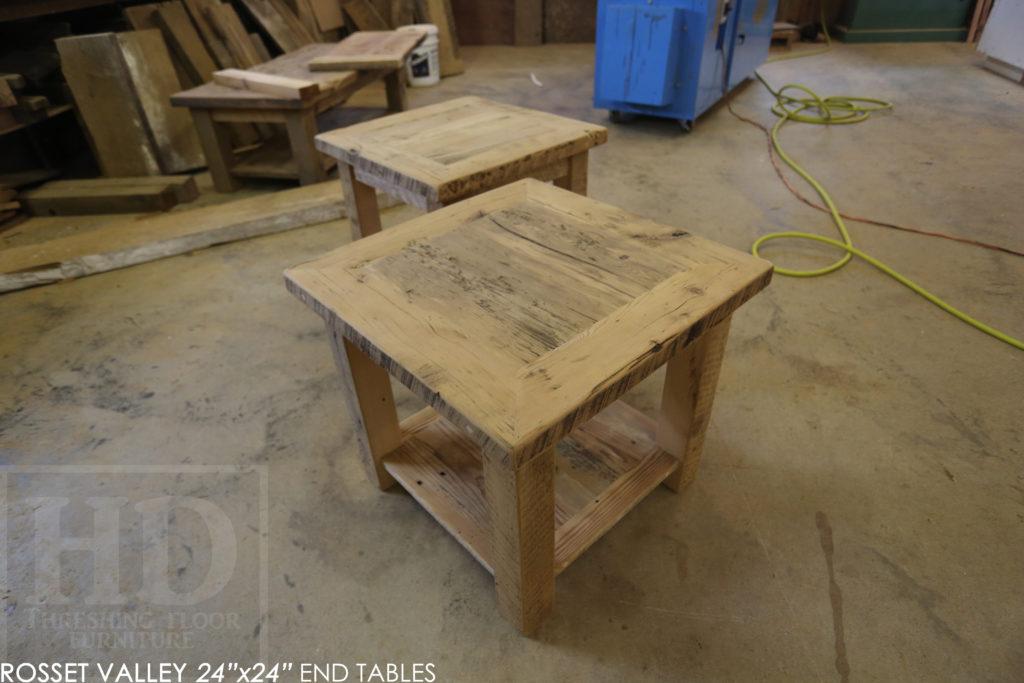 end table, reclaimed wood end table, custom end table, hemlock, barnwood end table, reclaimed wood furniture Ontario, HD Threshing Floor Furniture, distressed, farmhouse, rustic, farmhouse, cottage, epoxy, gerald reinink