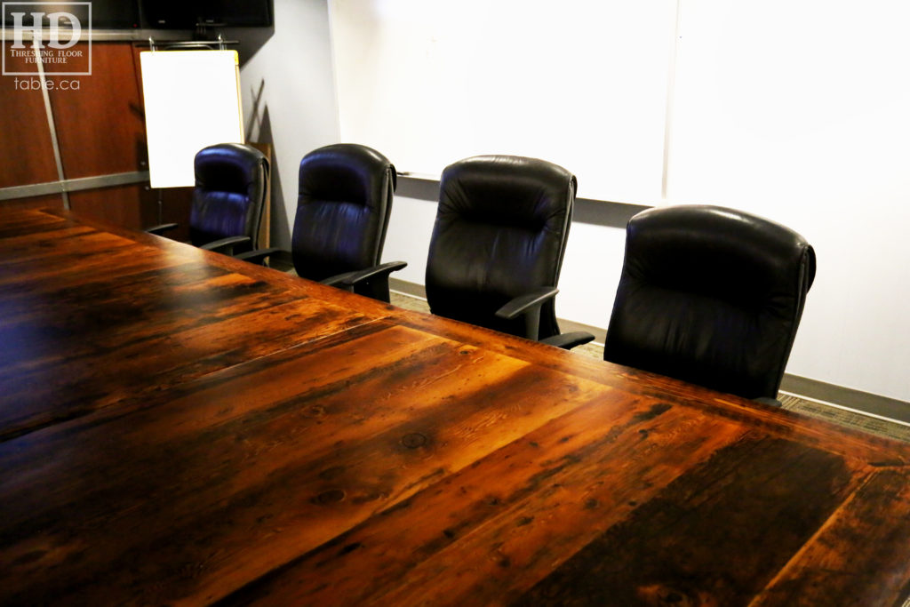 Large Reclaimed Wood Boardroom Table by HD Threshing Floor Furniture / www.table.ca