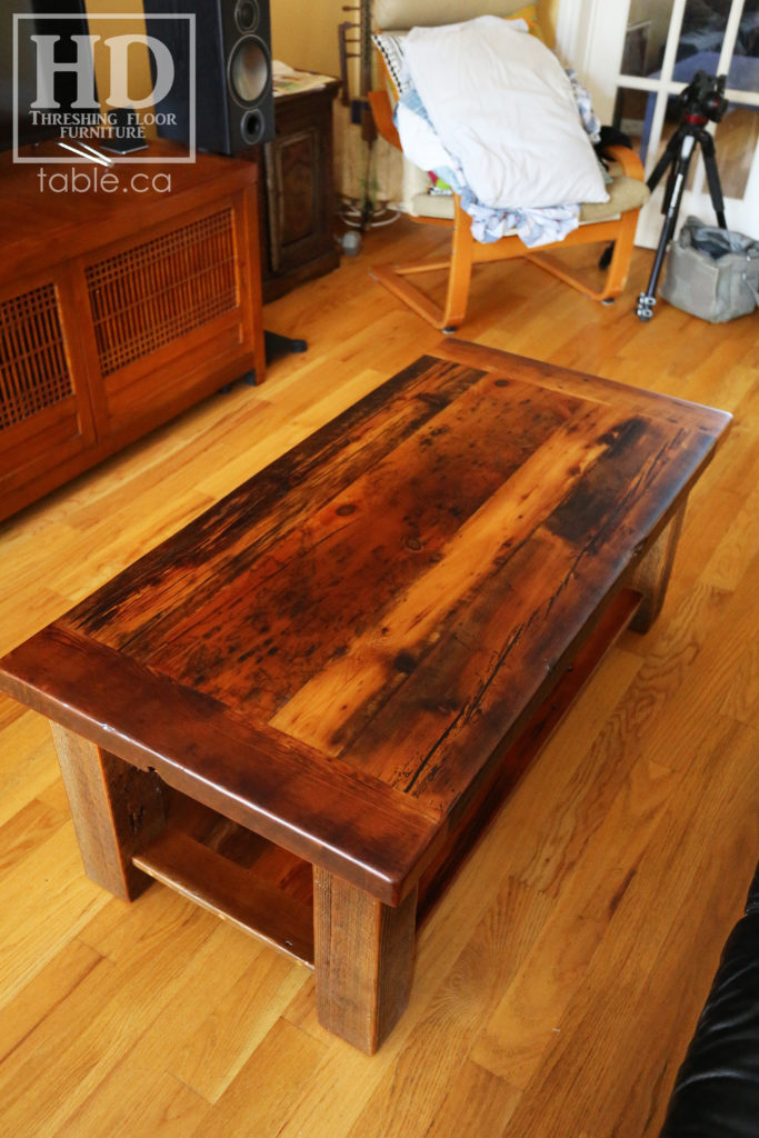 Canadian Coffee Table made from Reclaimed Ontario Wood by HD Threshing Floor Furniture / www.table.ca
