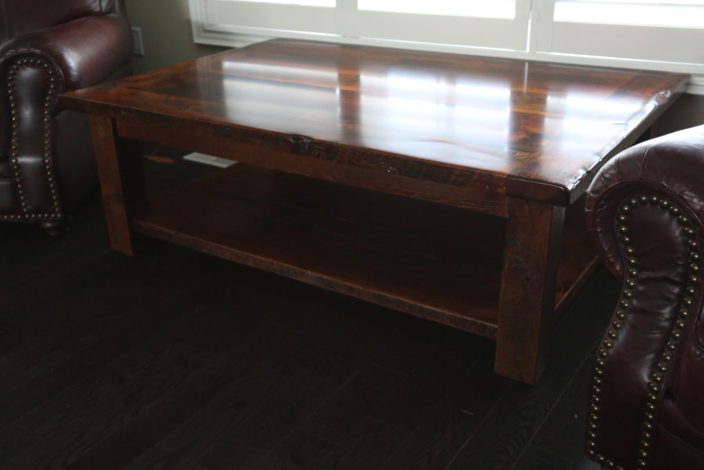 Solid Wood Coffee Table made from Ontario Reclaimed Barnwood by HD Threshing Floor Furniture / www.table.ca