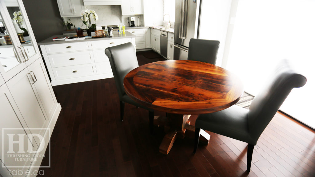 Barnwood Round Table by HD Threshing Floor Furniture / www.table.ca