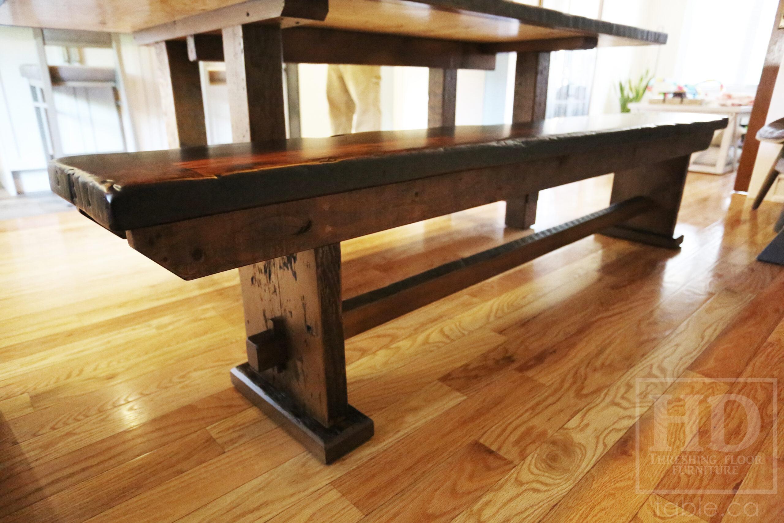 "7' Ontario Barnwood table we made for a  Hamilton, Ontario Home - 42"" wide -  2"" Hemlock Threshing Floor Construction - Original Ontario barnwood edges & distressing maintained - Premium epoxy + satin polyurethane finish - www.table.ca7' Ontario Barnwood table we made for a  Hamilton, Ontario Home - 42"" wide -  2"" Hemlock Threshing Floor Construction - Original Ontario barnwood edges & distressing maintained - Premium epoxy + satin polyurethane finish - www.table.ca"