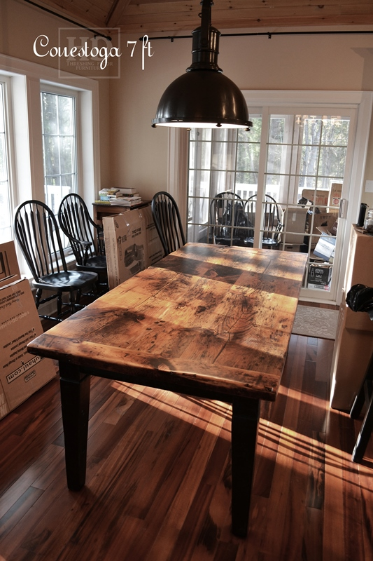 Harvest Table Ontario  Harvest Dining Table  Reclaimed Harvest Table