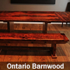 Reclaimed Wood Threshing Floor Furniture finishing with epoxy and matte polyurethane