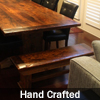 Reclaimed Wood Threshing Floor Furniture Benches