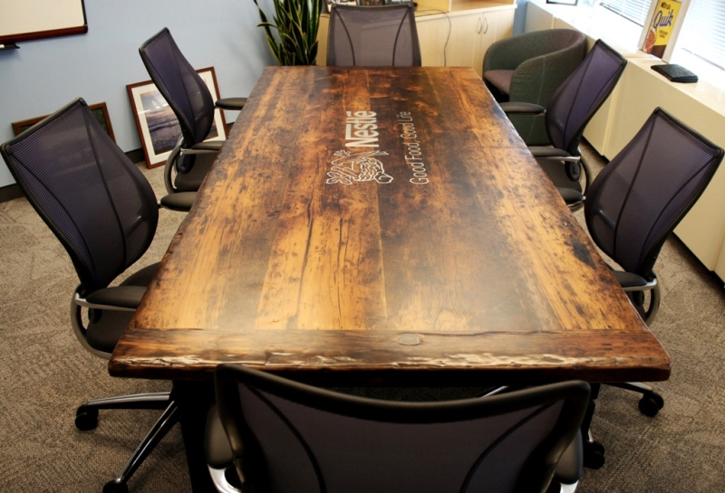 Custom Reclaimed Wood Boardroom Tables Hd Threshing