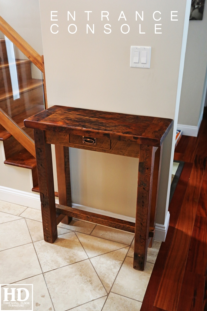 Reclaimed Wood Sofa Side Console Tables