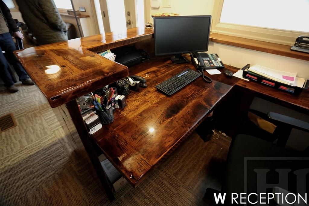 Awesome ... Heavy Duty Reclaimed Wood Desk ...