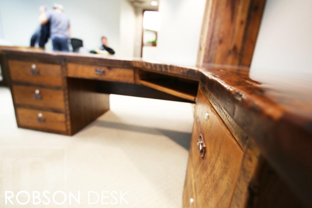 heavy duty reclaimed wood desk