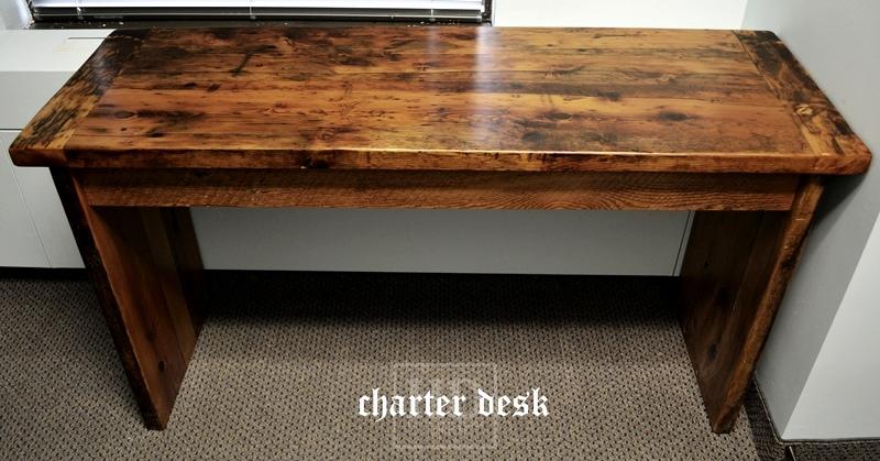 ... Reclaimed Wood Desk ... - Reclaimed Wood Desks Ontario HD Threshing Floor Furniture