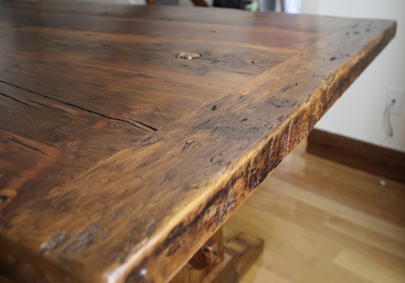 Reclaimed Wood Furniture Durable Top Coat Hd Threshing