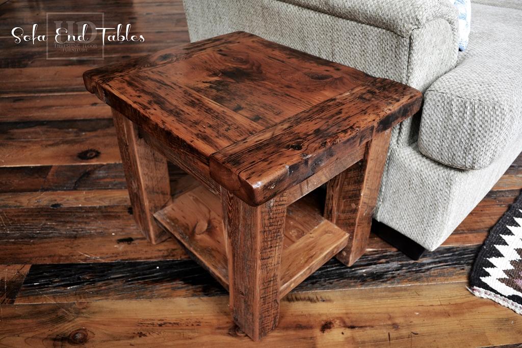 reclaimed wood end tables hd threshing