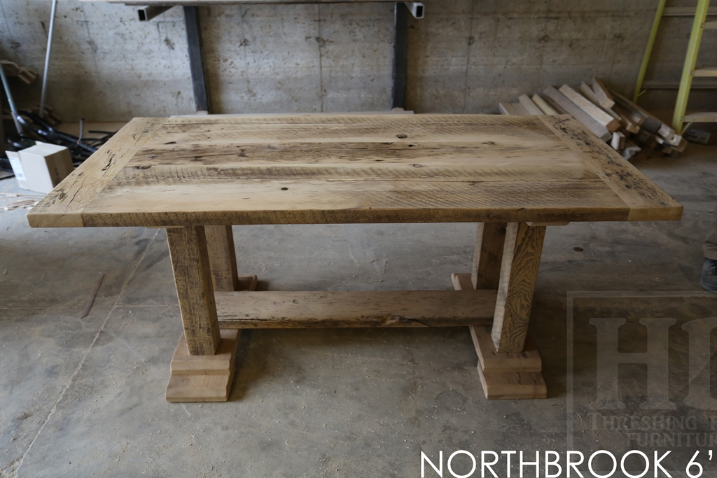Reclaimed Wood Trestle Tables Finished With Epoxy By Hd  Reclaimed Wood Frame Tables | HD Threshing