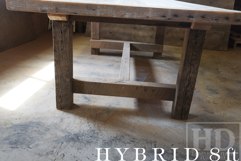 Reclaimed Wood Frame Tables Hd Threshing