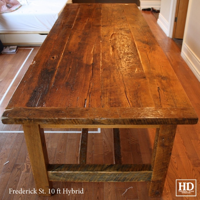 Reclaimed Wood Frame Tables Hd Threshing