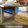 Reclaimed Wood Frame Style Table by HD Threshing Floor Furniture