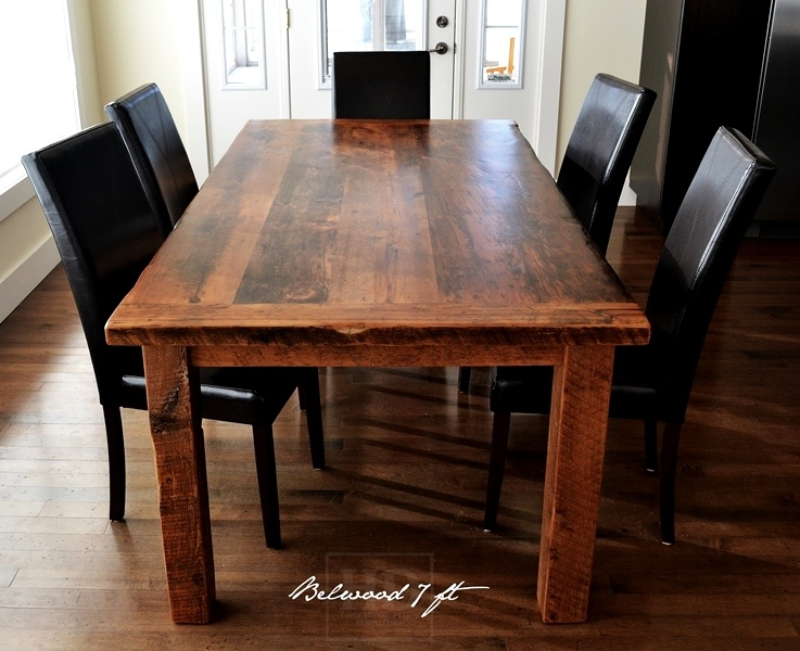Harvest table ontario harvest dining table reclaimed for Reclaimed dining room table