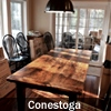 Harvest Tables Reclaimed Wood Furniture by HD Threshing Floor Furniture, Conestoga