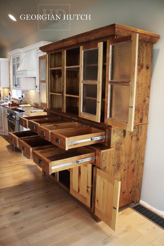 Custom Built Reclaimed Wood Hutches