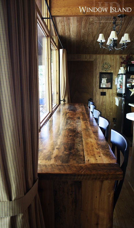 reclaimed wood kitchen island