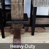 End base option; hand-hewn beam base with threshing floor board foot rest