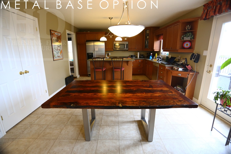 Reclaimed Wood Trestle Tables Finished With Epoxy By Hd  Rustic Furniture | Metal Tables | HD Threshing