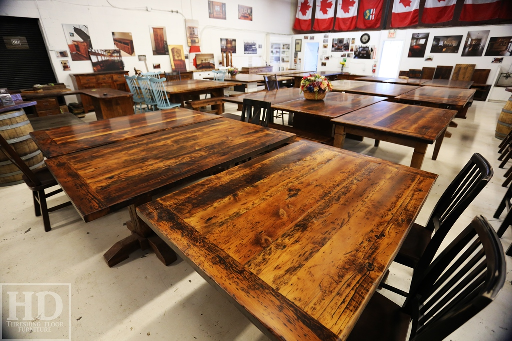 industrial wood furniture. Simple Industrial Reclaimed Wood Tables And Furniture Showroom And Industrial